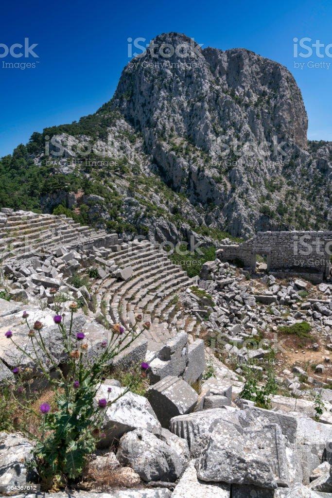 De oude stad Termessos Pisidian in Turkije - Royalty-free Aangelegd Stockfoto