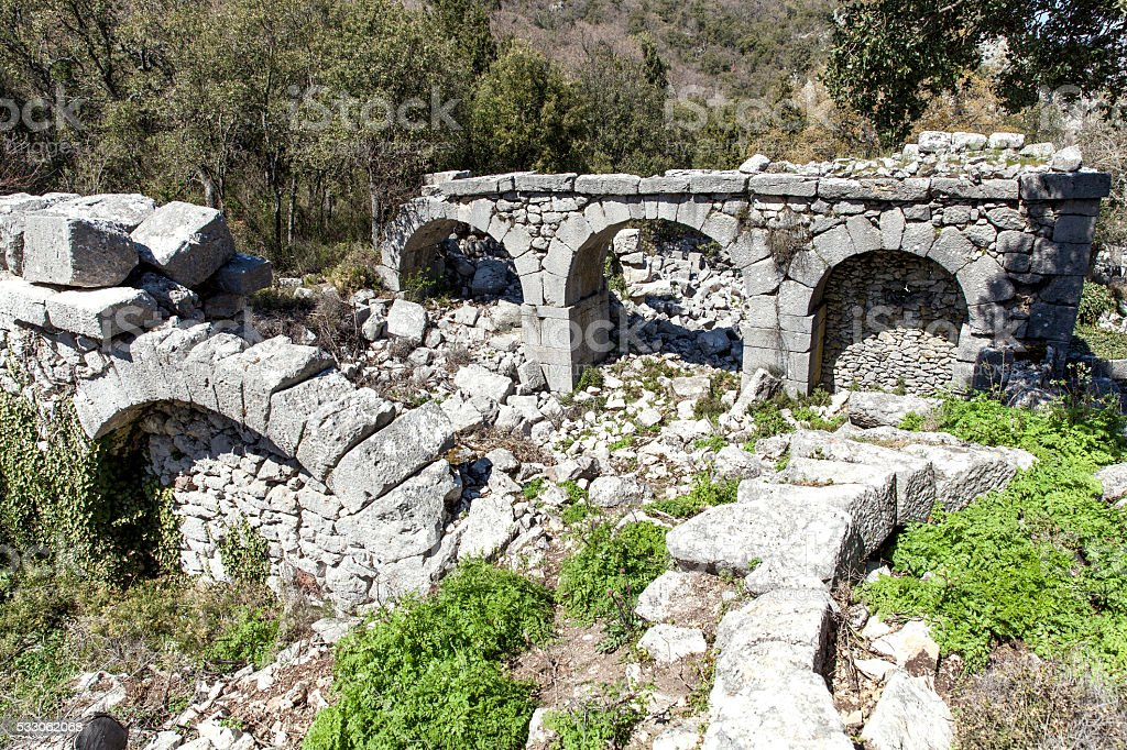 Termessos e ruínas. - foto de acervo