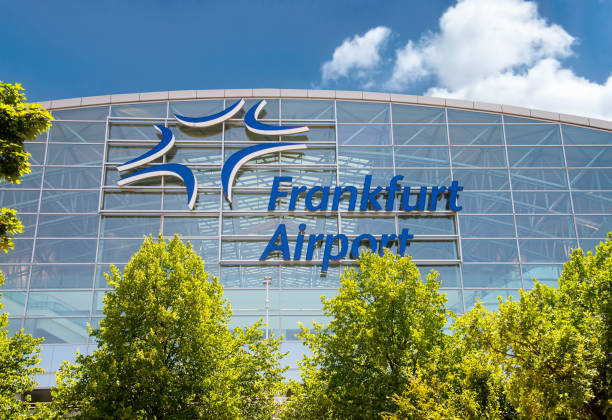 Terminal 2 at Frankfurt Airport stock photo