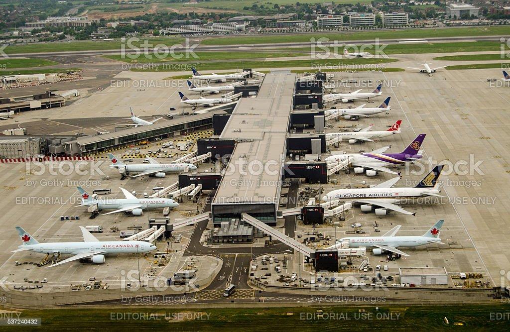 Terminal 2, Heathrow Airport, London stock photo