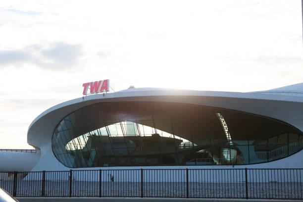 TWA terminal at JFK airport stock photo