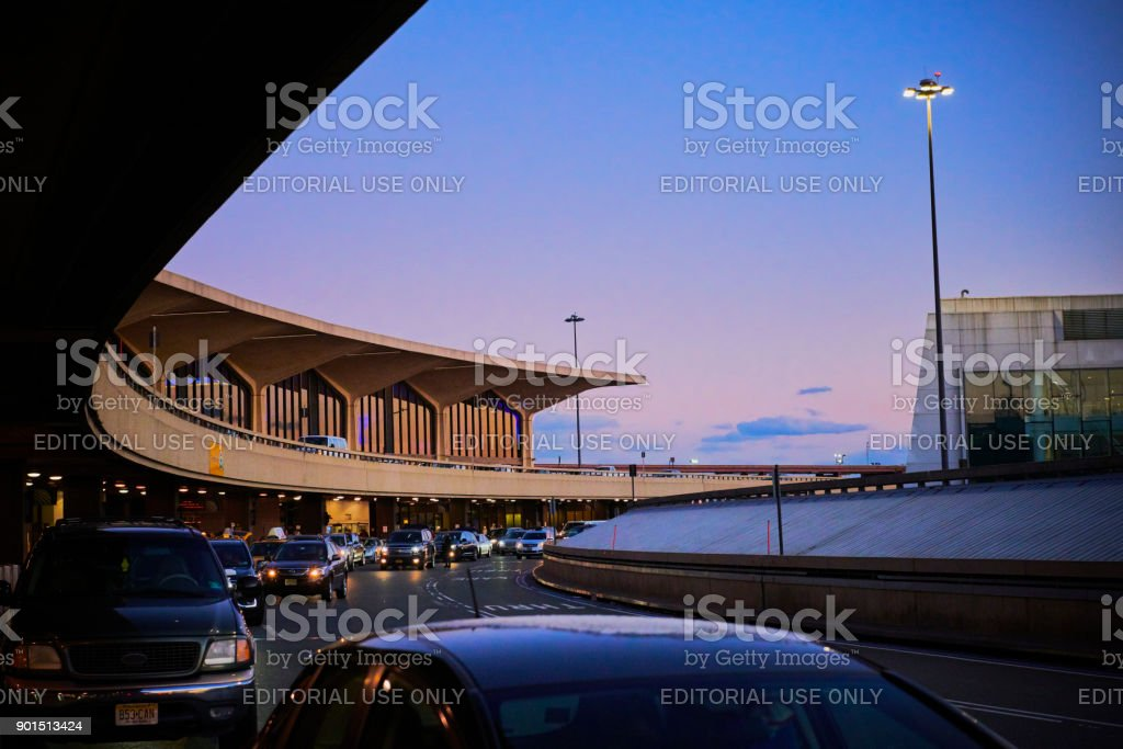 Terminal C at Newark Airport stock photo
