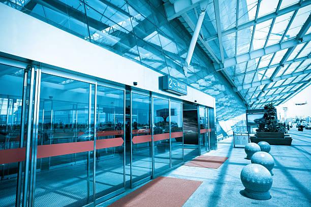 terminal entrance stock photo
