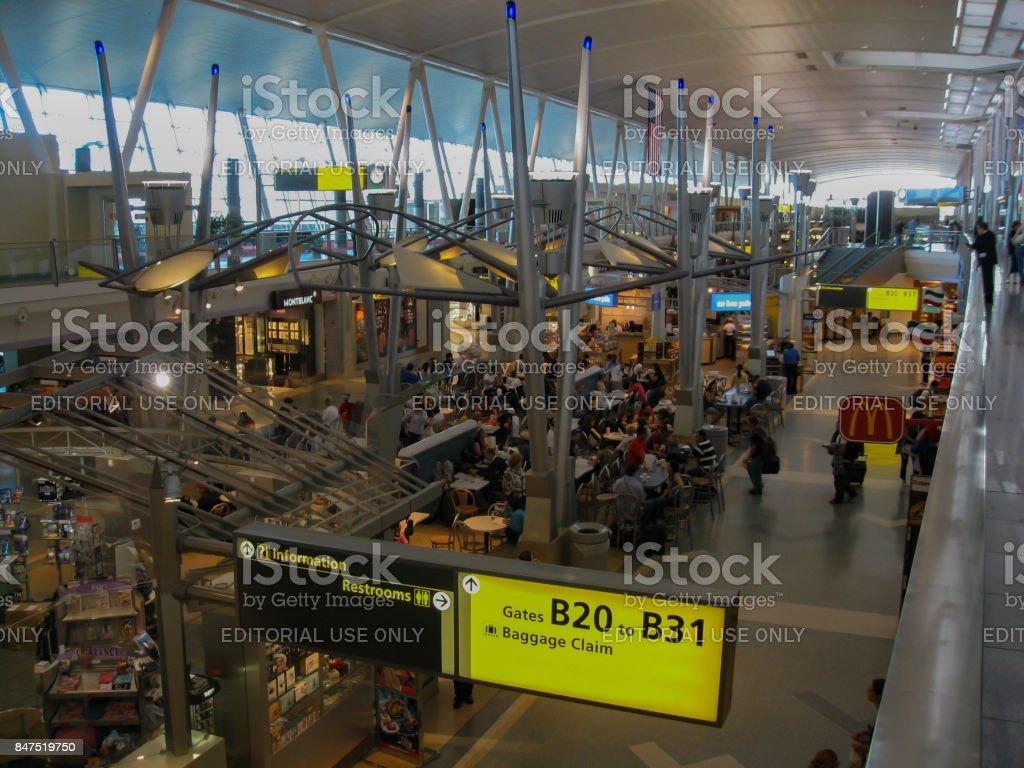 Terminal del aeropuerto JFK en Nueva York - foto de stock