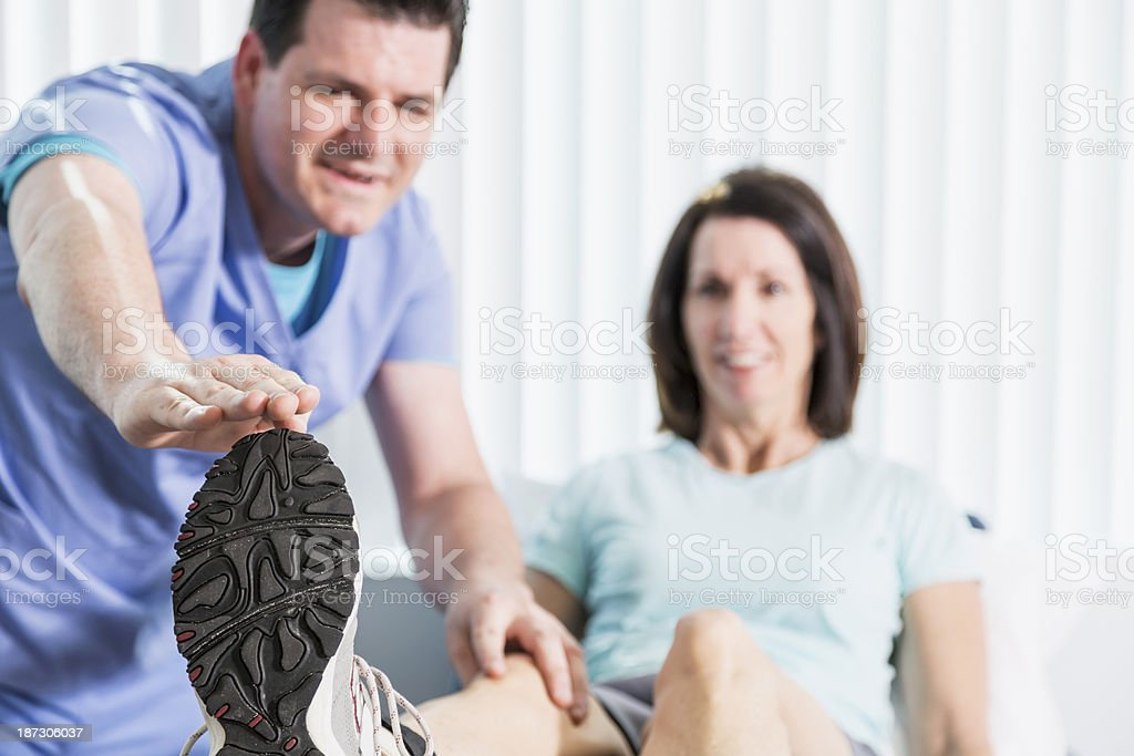 Terminal knee extension stock photo