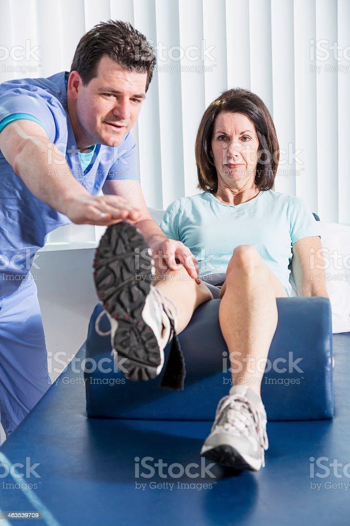 Terminal knee extension royalty-free stock photo