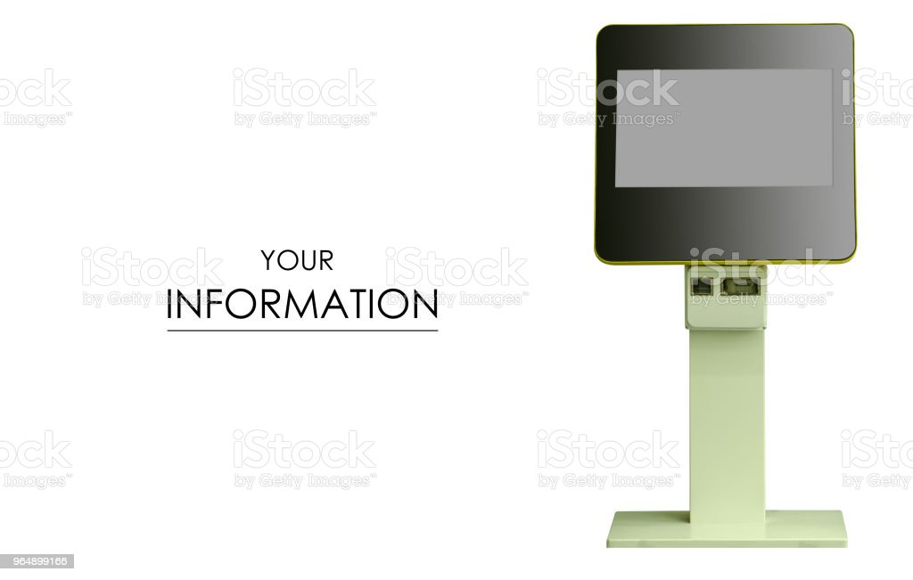 Terminal machine display patter royalty-free stock photo