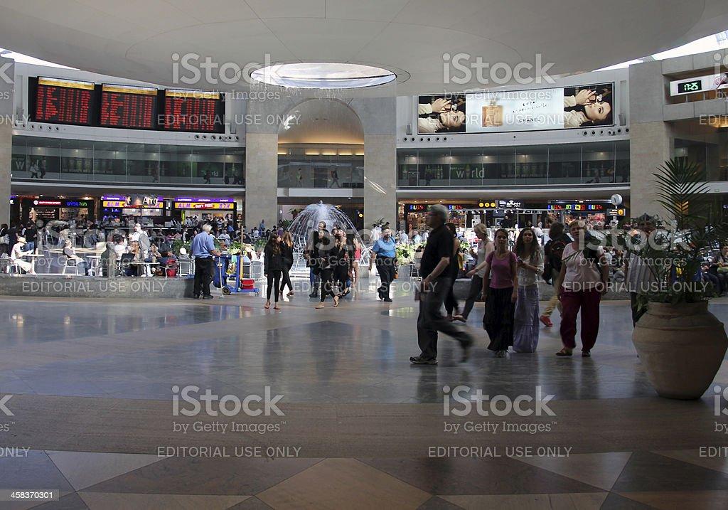 Terminal #3 of Ben Gurion airport stock photo