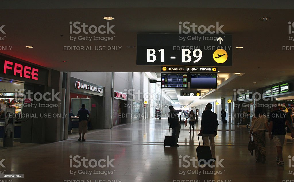 Terminal #3 of Ben Gurion airport stock photo