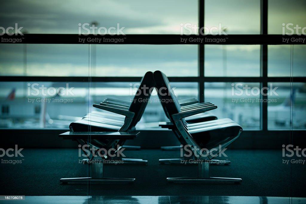 SFO Terminal royalty-free stock photo