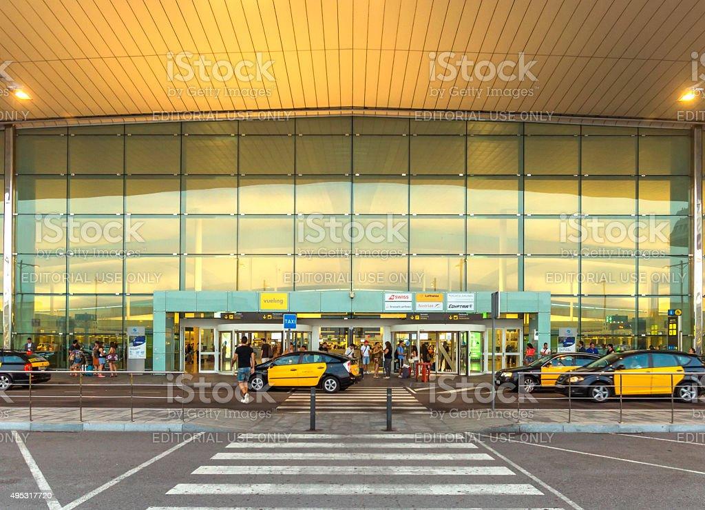 Terminal T1 of El Prat-Barcelona airport stock photo