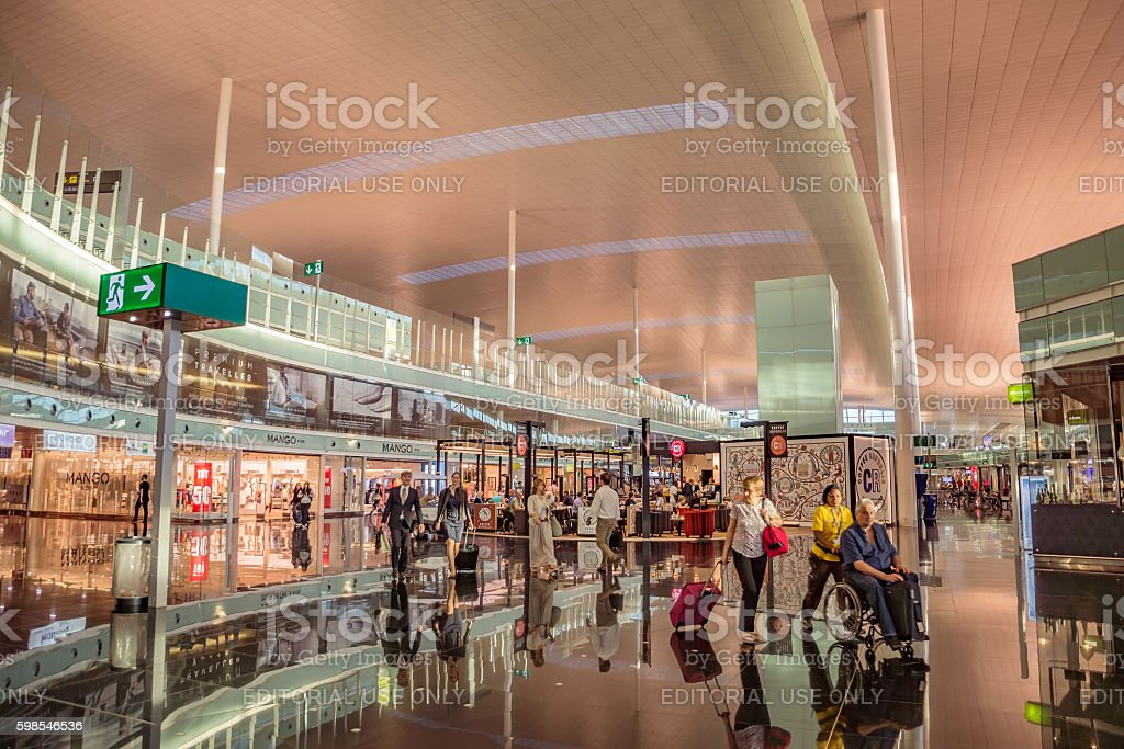 Le Terminal T1 de l'aéroport de Barcelone-El Prat photo libre de droits