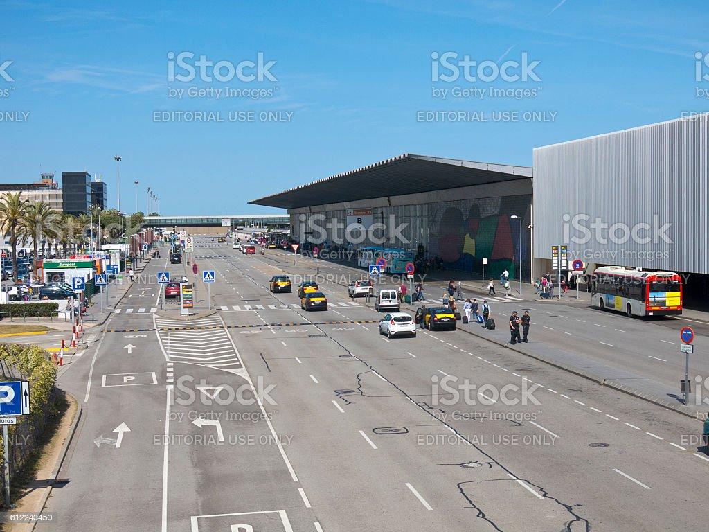 Terminal T1 of El Prat-Barcelona airport. Spain stock photo