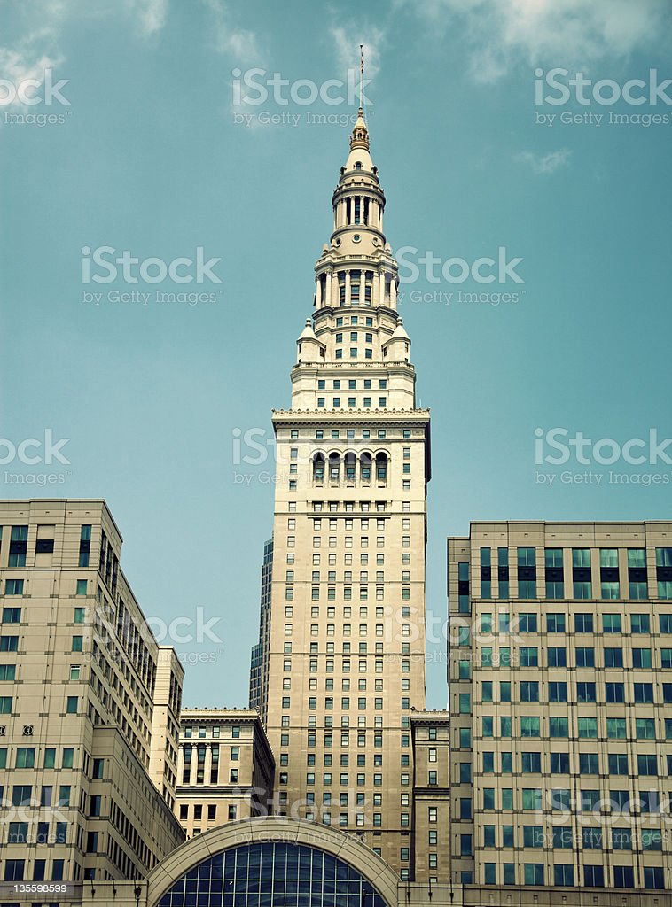 Terminal Tower in Cleveland stock photo