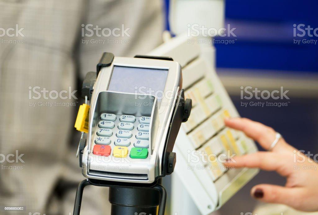 POS Terminal Transaction stock photo