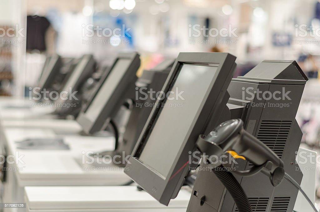 Terminais e caixas registradoras foto royalty-free