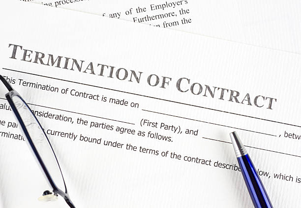 Termination of contract stock photo