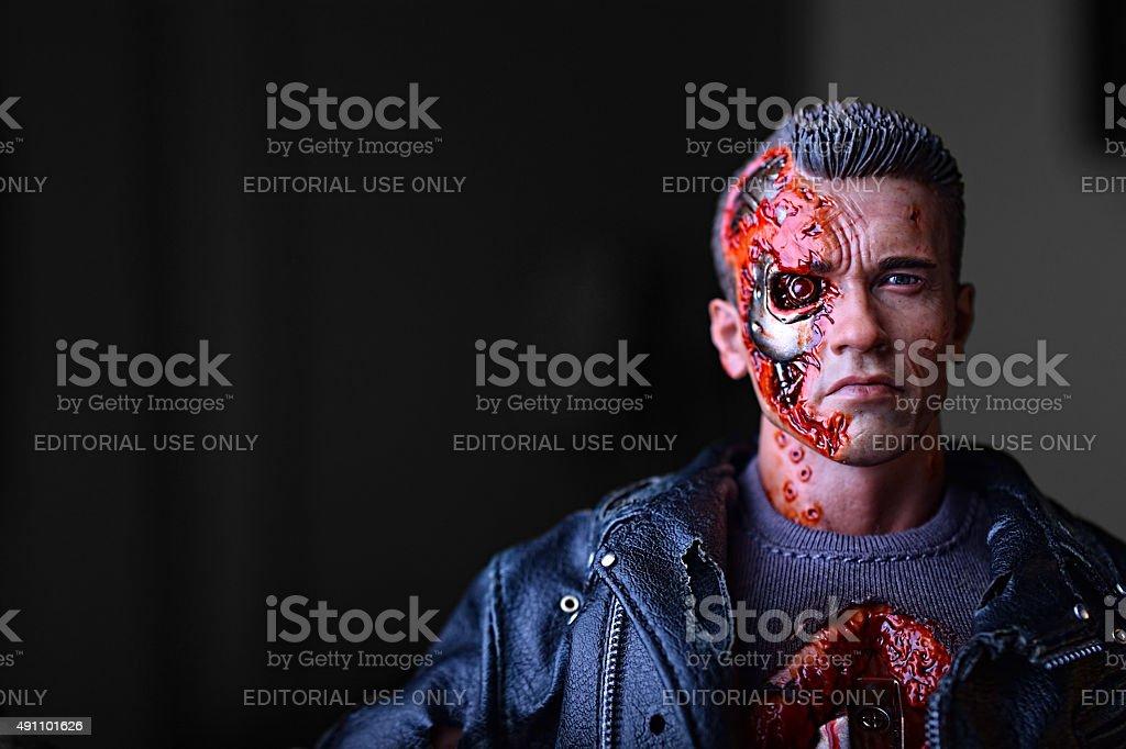 Terminator Schwarzenegger stock photo