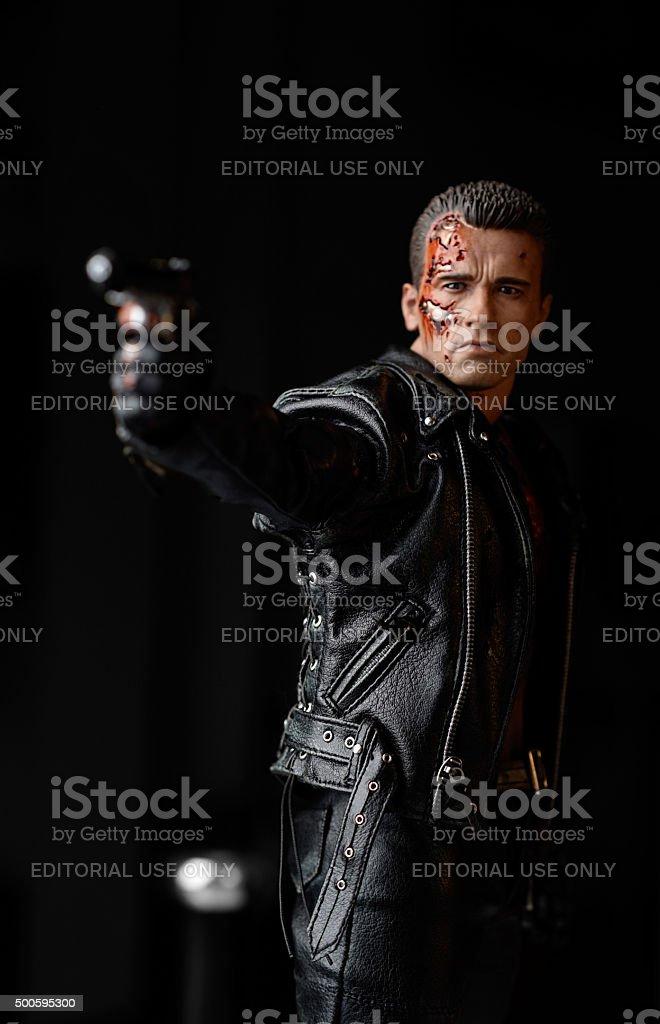 Terminator Schwarzenegger - foto de acervo