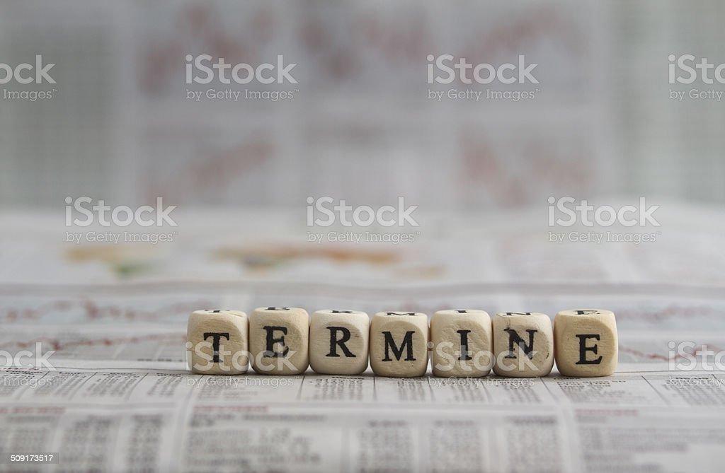 Termine Lizenzfreies stock-foto