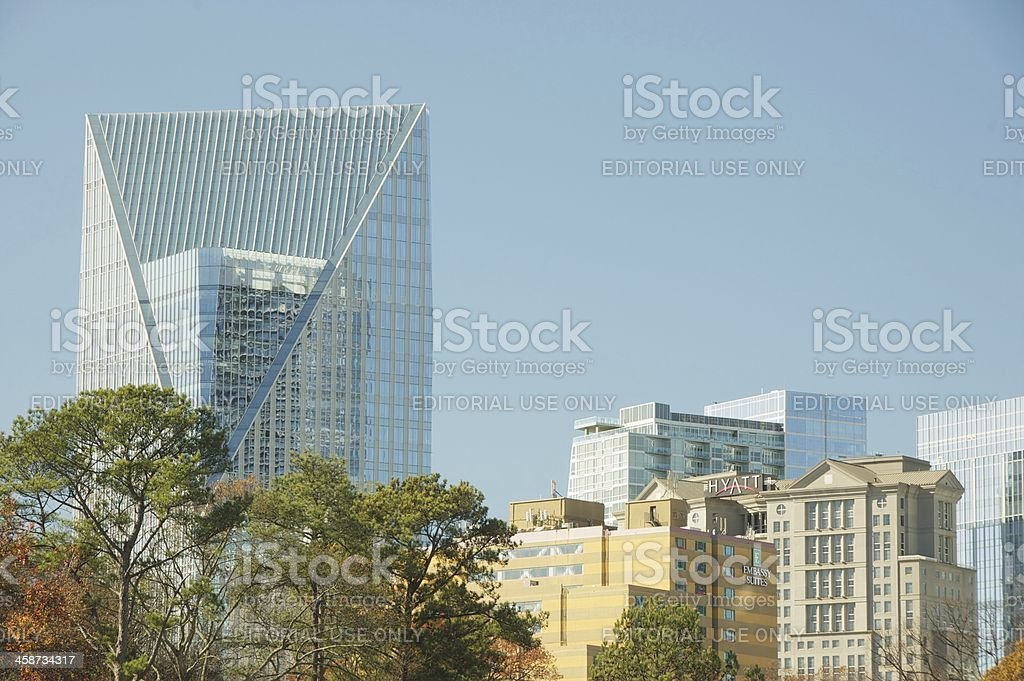 Terminus Building with nearby hotels in Buckhead, Atlanta, USA stock photo