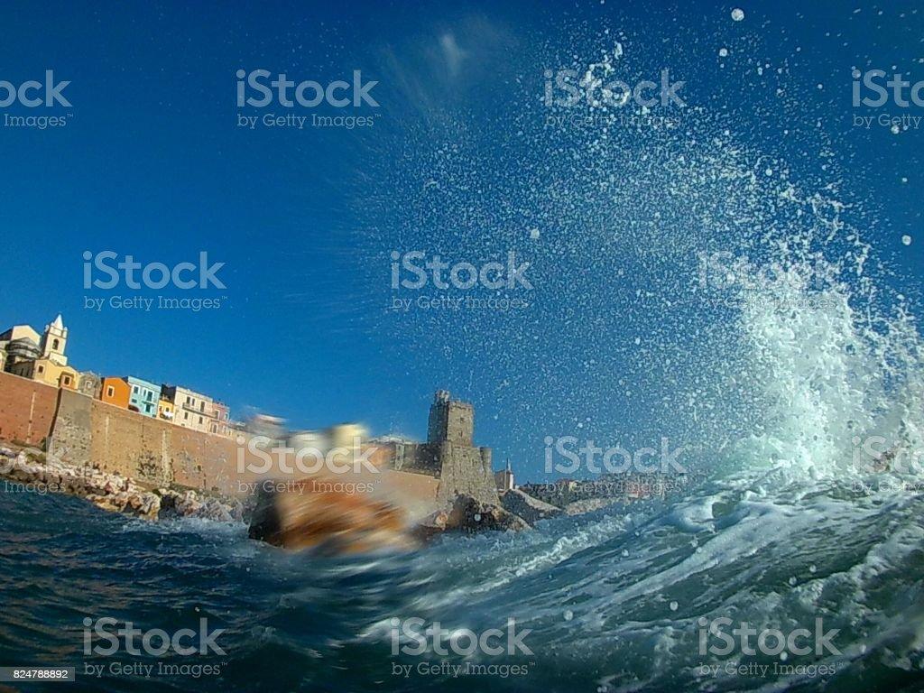 Termoli - Il borgo tra i flutti stock photo