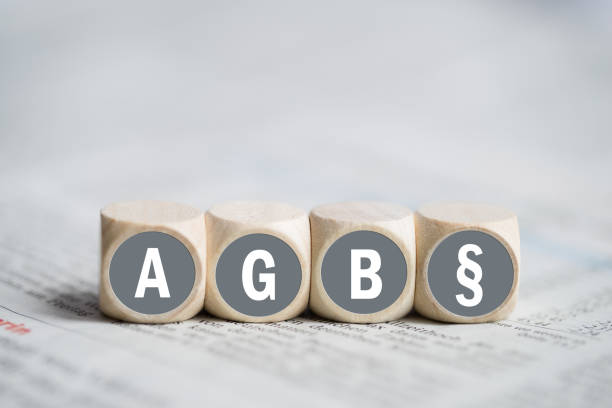 Terms and Conditions (as acronym AGB in German) stock photo