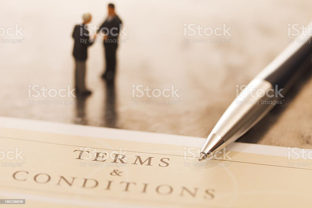 Terms and conditions royalty-free stock photo