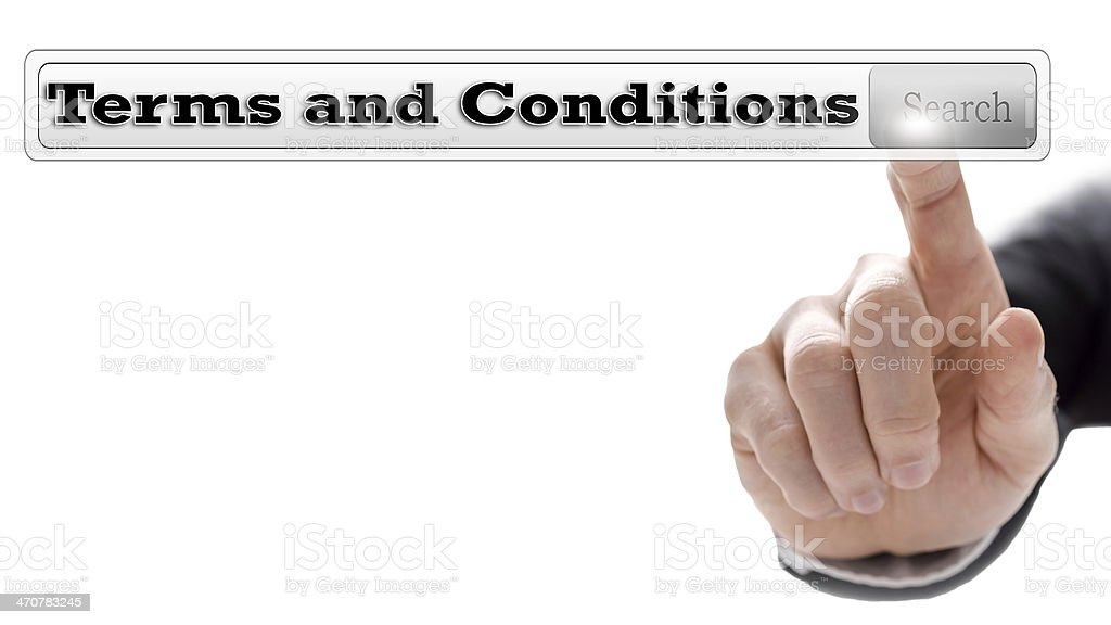 Terms and conditions stock photo