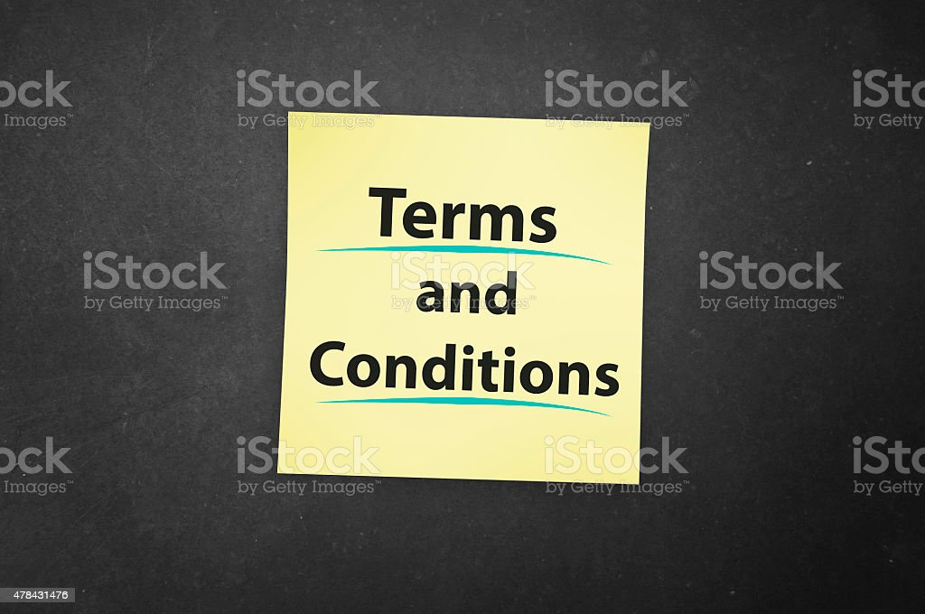Terms and Conditions foto