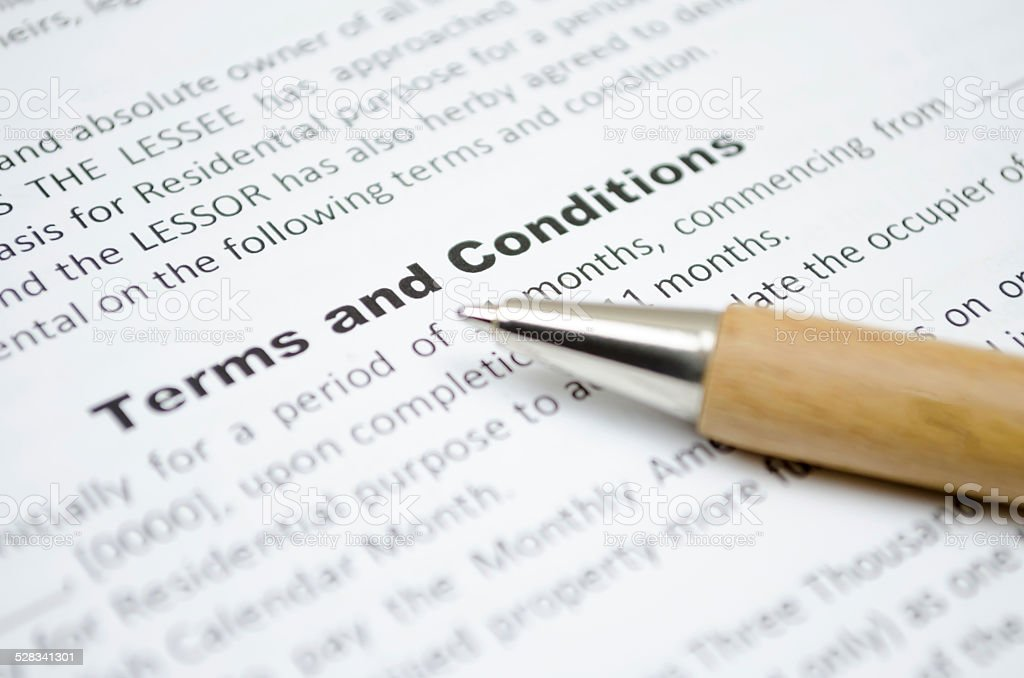 Terms and conditions - Royalty-free Bağımlık Stok görsel