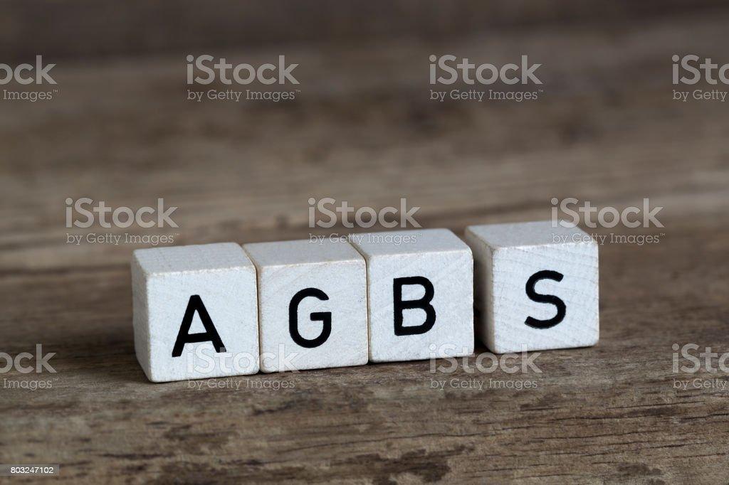 Algemene verkoopvoorwaarden, geschreven in blokjes, Duits foto