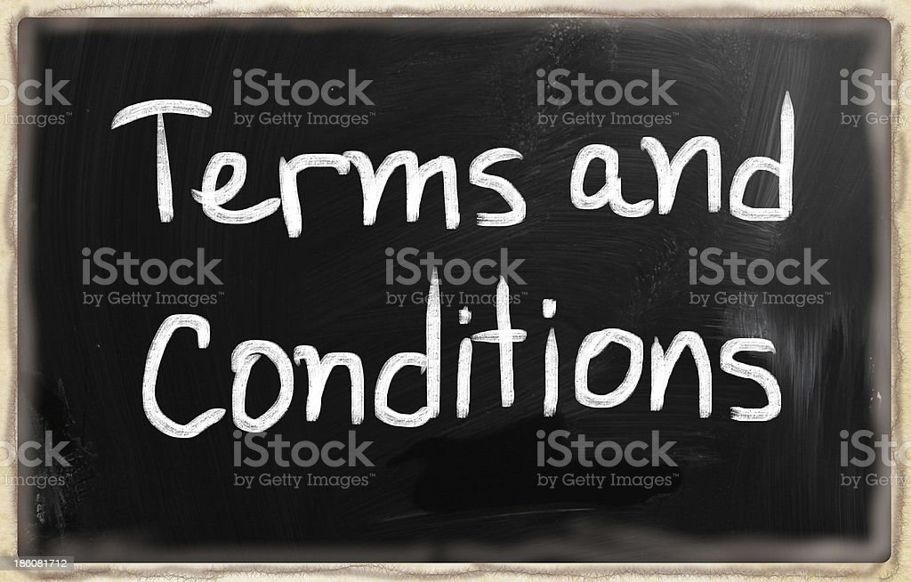 Terms & Conditions royalty-free stock photo