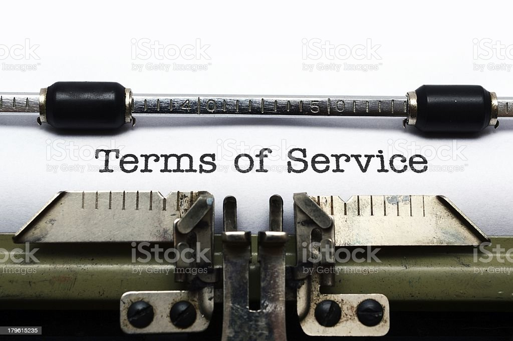 Terms of service royalty-free stock photo