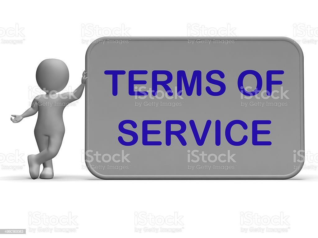 Terms Of Service Sign Shows Agreement And Contract For Use royalty-free stock photo