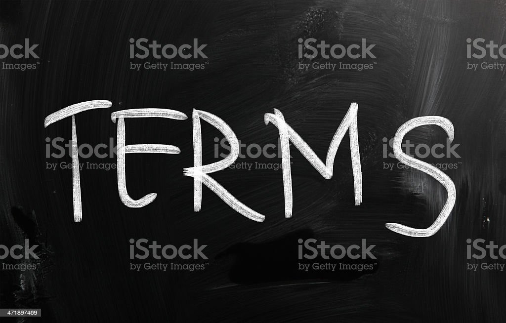 Terms royalty-free stock photo