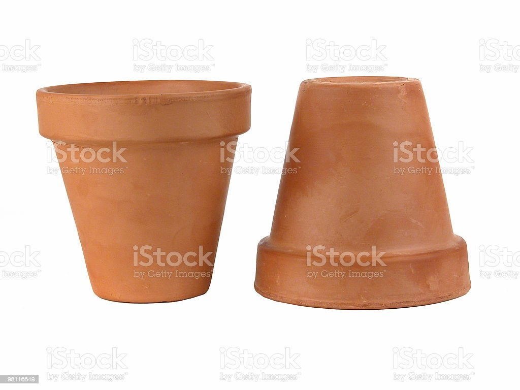 terra cotta pots 2 royalty-free stock photo