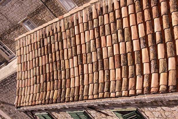Terra Cotta Roof, Dubrovnik, Croatia stock photo