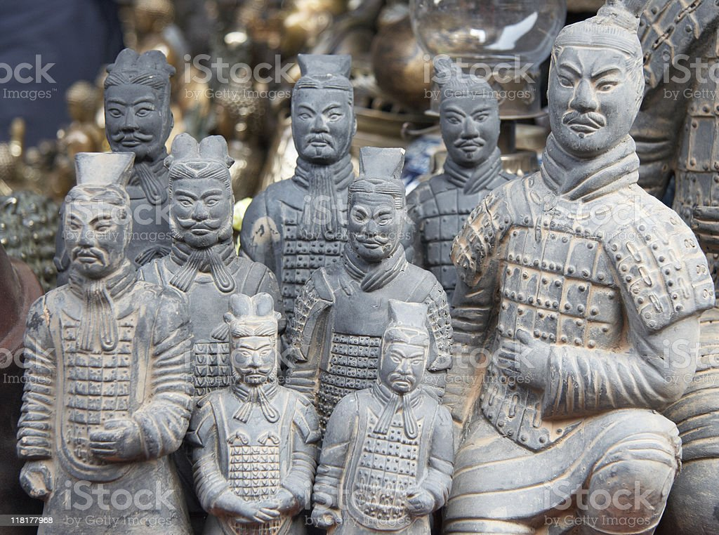 Terra cotta soldier stock photo
