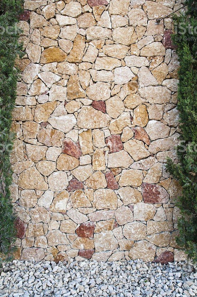 terra cotta stone wall background royalty-free stock photo