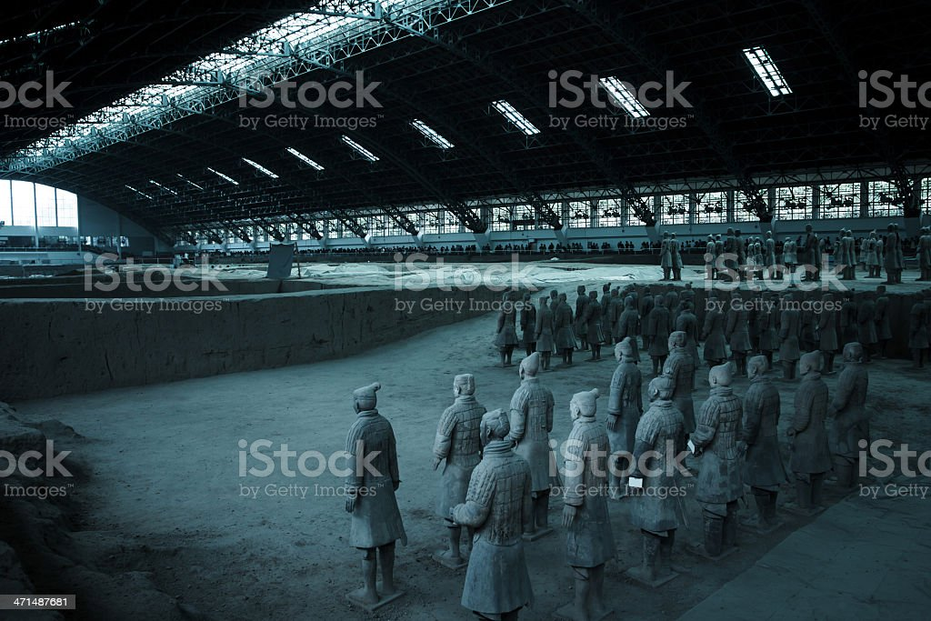 Terra Cotta Warriors stock photo
