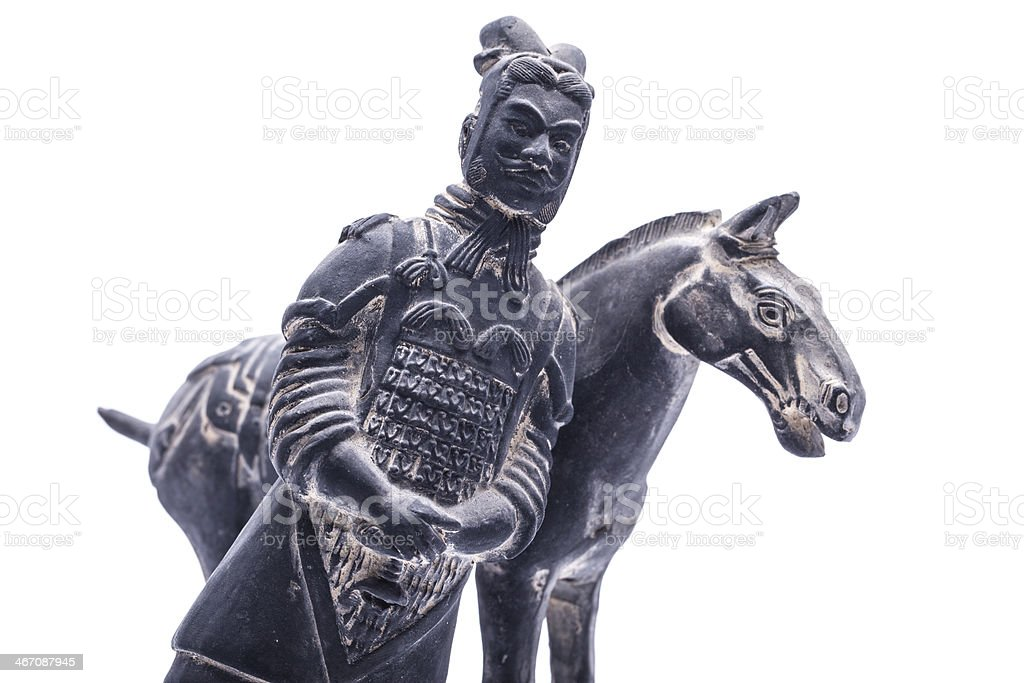 Terra Cotta Warriors,isolated on white background royalty-free stock photo