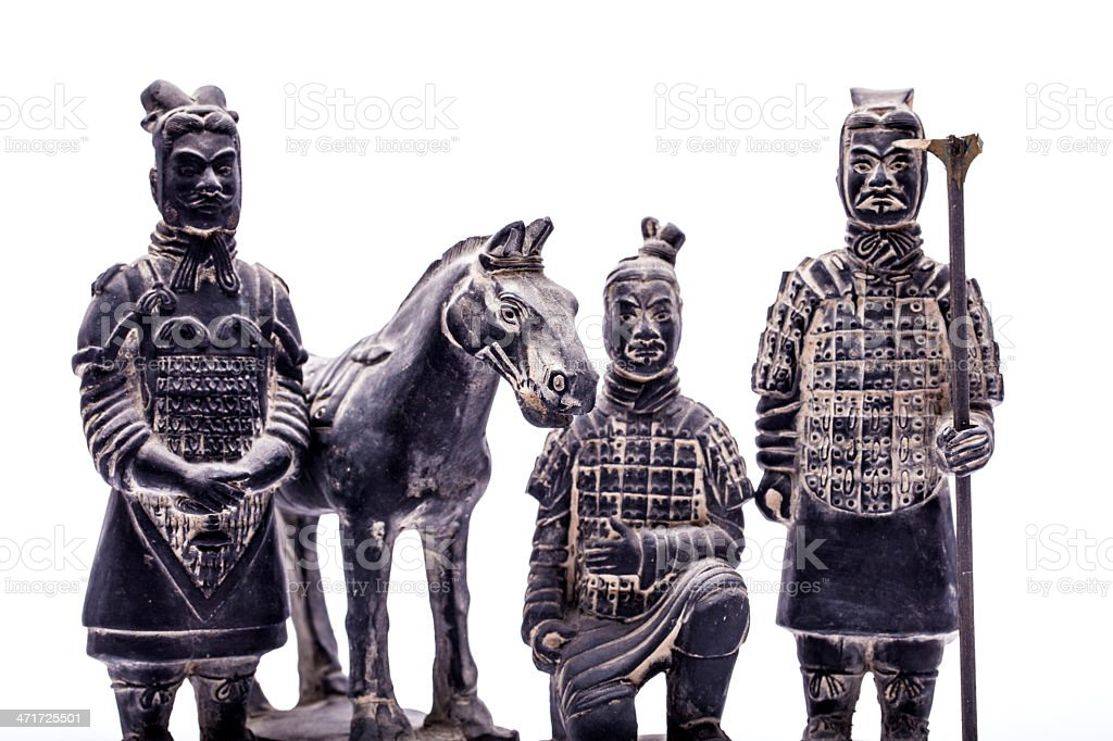 Terra Cotta Warriors,isolated on white background royalty-free stock photo