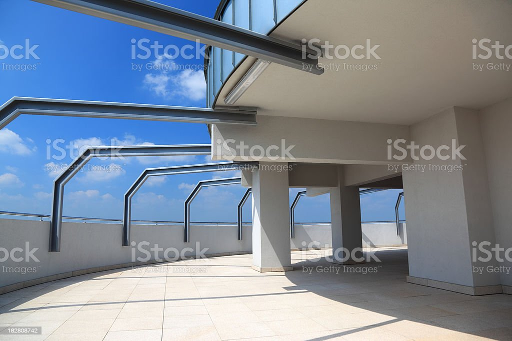 Terrace and blue sky royalty-free stock photo
