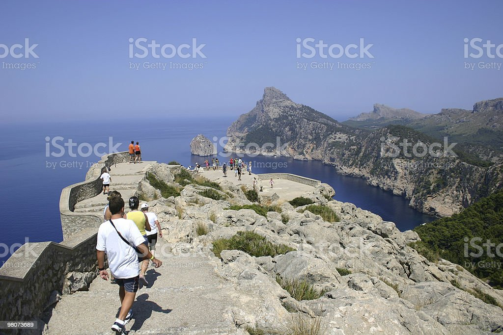 Terrace 'Es Colomer' in Formentor stock photo