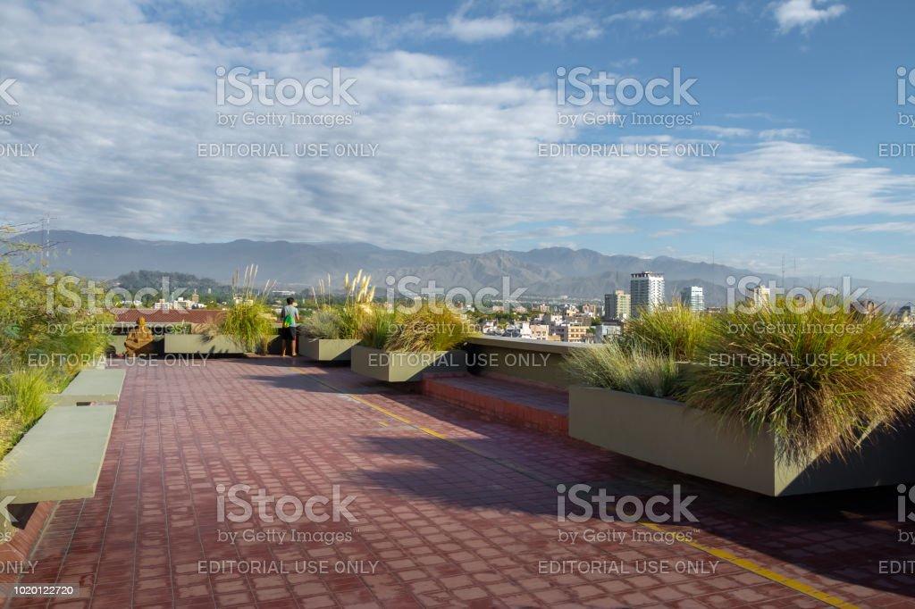 Terrace Gardens Viewpoint Mendoza Argentina Stock Photo