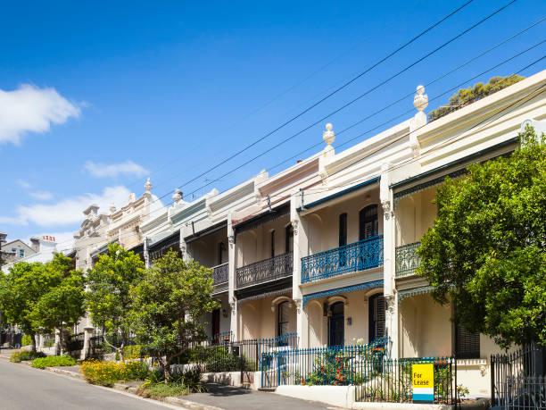 terrace house paddington sydney stock photo