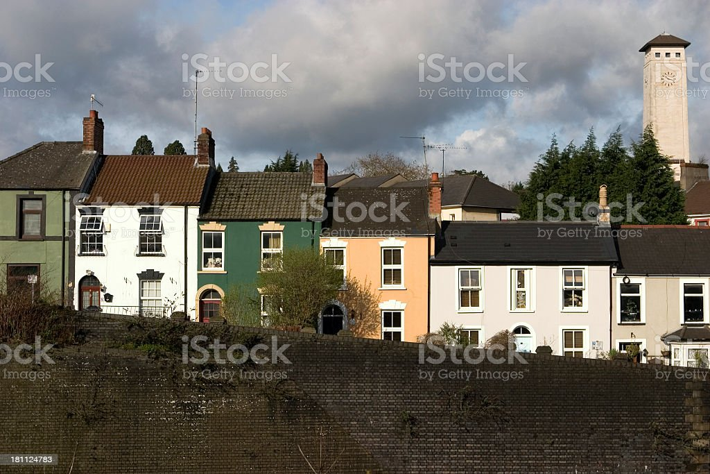 Terrace Houses (Wales) stock photo