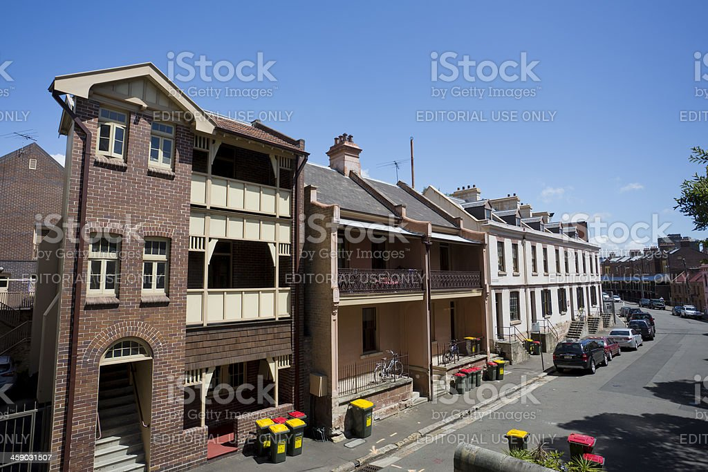 Terrace Houses, The Rocks, Sydney, Australia royalty-free stock photo