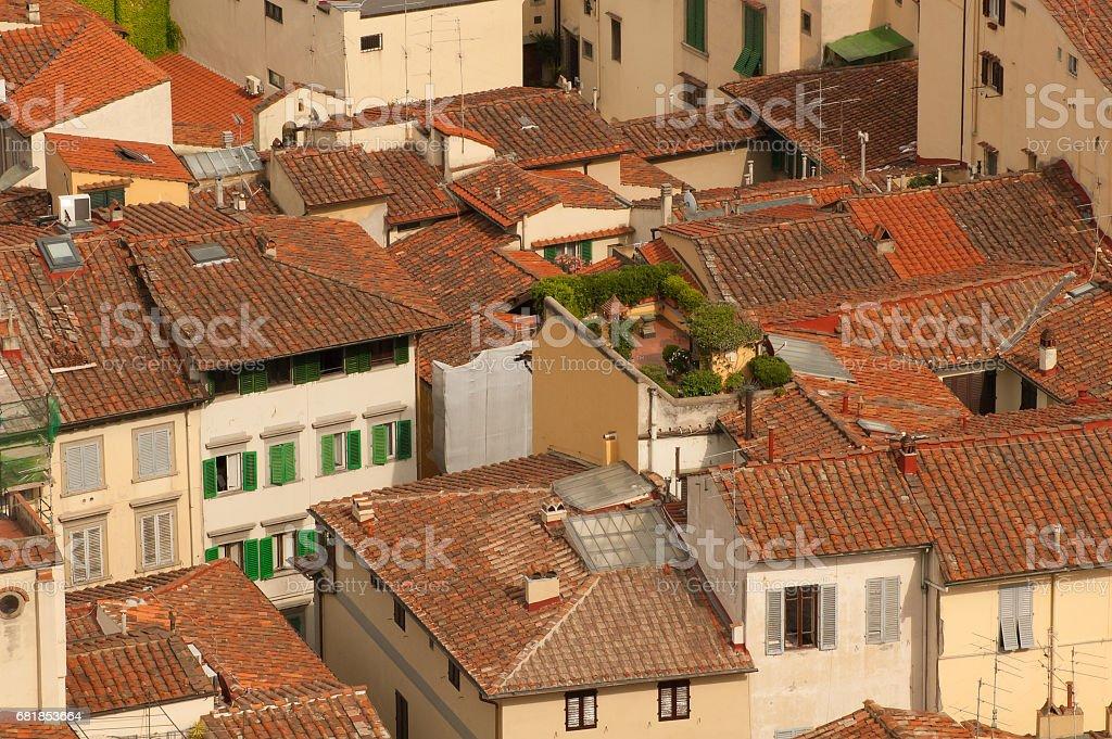Terrace in Florence стоковое фото